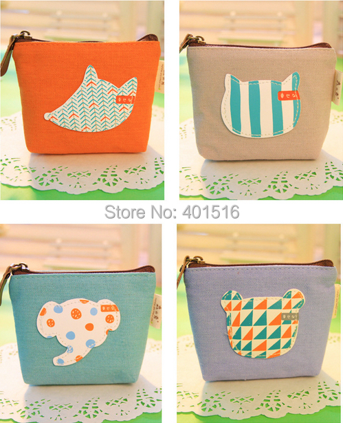 2014 New Korea Style PU Square Cute Forest Rally Purse / Coin Bag /