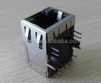 1000M 10pin led connector RJ45 / rj45 connector with 90 degree