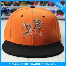 Custom Cheap Flat Brim High Quality Promotioanal Advertising Sport Embrodiery Plain Dyed Snap Back Cap