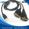 FTDI CHIP USB 2-Port Serial Adapter 6ft. / USB 2.0 Dual Port Serial DB-9 RS-232
