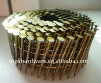 Pneumatic Fasteners yellow galvanized collated Coil Roofing Nail,coil fence gun nails for pallet