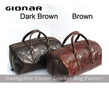fashionable best Vegetable tanned leather vintage Man duffle travel overnight bags