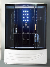 4mm clear glass chromed aluminum profile stable shower enclosure/curved shower cabinet shower room