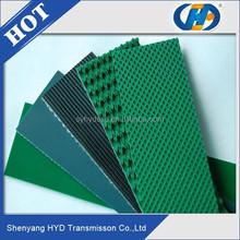 PVC Ribbed Pattern Conveyor Belt used envelops Delivery Application