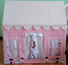 Princess pink dream Cotton Fabric canvas house ,indoor and out door play house with EN71 rohs certification