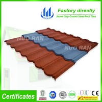 high quality 1320*420mm stone coated metal Villa Roofing Tiles/Stone Coated Metal Roof Tile-Flat tile from HALIFLY