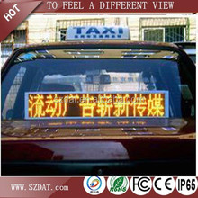 Wireless control led scrolling message display sign for car back window pixel pitch 6mm