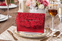 fresh red laser cut cards made in China canton fair 2015