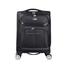 2015 unisex small plane wheeled aluminium luggage black suitcase