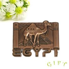 Good Quality Popular Promotional Gifts camel metal fridge magnet