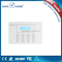 Touch screen wireless smart burglar gsm alarm system with LCD display and user manual