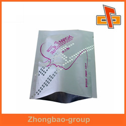 Resealable heat sealed type custom printed mask bags for face/hand/feet/eye care proucts