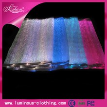 LED lighting fiber optical fabric pvc tarpaulin fabric wholesale with RGB changeable colors free shipping