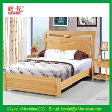 Environmental protection paint free 100% pure bamboo bed double bed plate furniture bedroom bed
