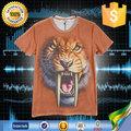Los fabricantes que venden pavo de neón color de spider man león 3d impresión de la camiseta