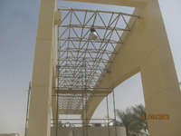 large span steel space frame steel shed drawing structure warehouse