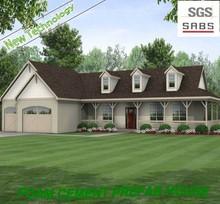Home decoration of prefab villa with steel sandwich modular homes