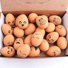 Funny expression egg shaped ball for pet