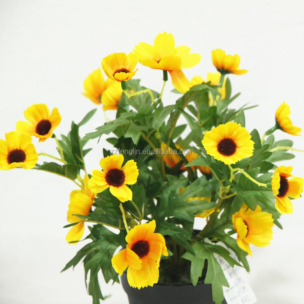 Cheap wholesale artificial silk gerbera daisy flower with pot yellow cheap wholesale artificial silk gerbera daisy flower with pot yellow silk flower for hotel decoration izmirmasajfo