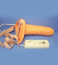 PVC Hollow Strap-On Vibrating sex used Dildo for male and female