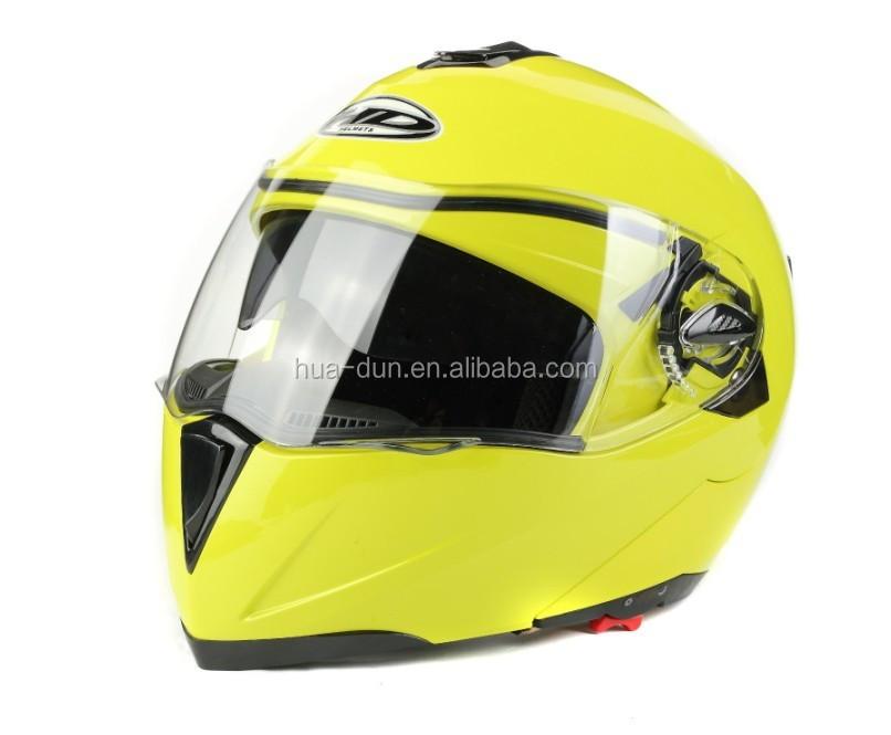 HuaDun dot dual visor flip up helmet HD-701