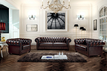 Low price chesterfield leather sofa, high end sofa, hotel sofa set MS-06#