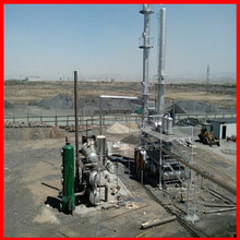 80%-85% diesel yield by in-direct heating system for tyre oil extraction machine