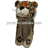 cute animal hat with paws, leopard print winter hats