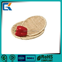 Artificial decorative plastic rattan fruit basket is new arrival