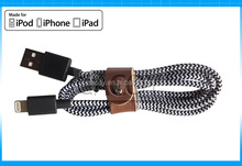 MFI Certificate usb Nylon braided data Cable for iphone6 5 5s 6 plus/ipad air/ipod