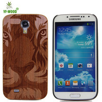 Competitive Price Cover Wood Case For Samsung Galaxy S4 100% Natural Real Wood Hard Back Case Cover