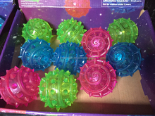 12pcs Light-Up meteor Characters Bouncy Ball Sensory LED Flashing Toys Light Up