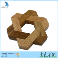 DIY Adult and Kids/Children Educational Handmade Wooden 3D Puzzle Brain Teaser Toys Star of David