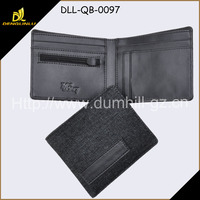 Unique designer fabric wallet purse matching PU leather insider for men