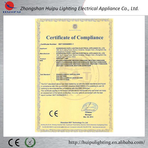 EMC Pendant Light certification.jpg