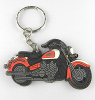 Hot sale custom motorcycle shaped 3d rubber soft pvc keychain