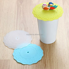 Animals decorative ceramic cup with silicone cover