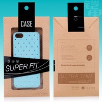 1000pcs/Cell Phone Case Retail Packaging New Kraft Paper Package with PVC Window Pouch Case Box Package Bag For iPhone 6 Cover