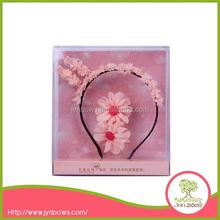 pink chiffon mini flower hairband, 5cm flower hairband for kids,headband for girls