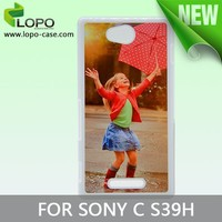 wood phone case Sublimation cellphone cover for Sony C S39H with Aluminum insert
