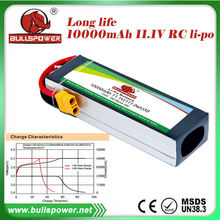 Lipo battery 3cells universal 10000mah 18c propel rc helicopter charger