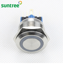 stainless steel 22mm Push Button Lamp Switch