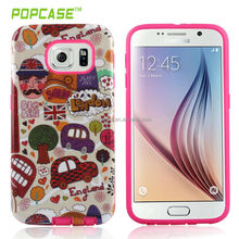 OEM Protective case skin For S6 soft tpu+pc (London style)
