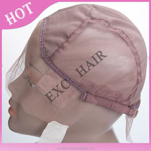 cheap wholesale Mesh adjustable full lace wig cap for making hair wigs
