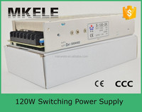 S-120-24 5A 120W 24 v dc power supply 110v ac to 24v dc power supply with circuit protection