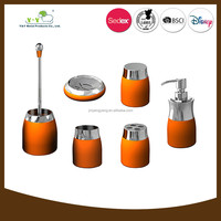 Professional colorful metal and ceramic accessories for bathroom