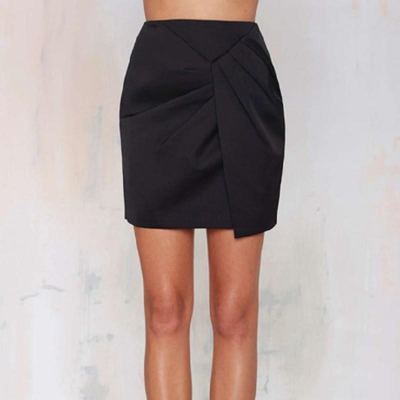 2015 mujeres mini dise o irregular faldas de cintura alta for Disenos de faldas