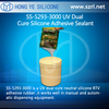 Dual cure neutral silicone RTV adhesive for UV
