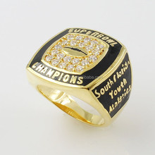 Superbowl Gold Plated Basketball Champion Rings In Micro Paved CZ 925 Sterling Silver