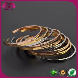 Wholesale Fashion Jewelry Stainless Steel Cuff Cheap Bulk Jewelry